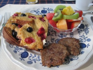 Red, White & Blueberry French Toast